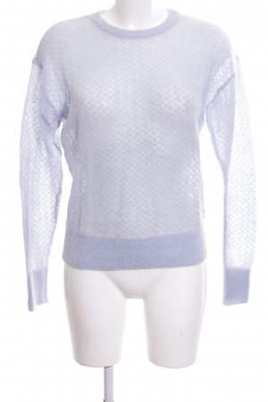 & other stories Strickpullover blau Allover-Druck Casual-Look