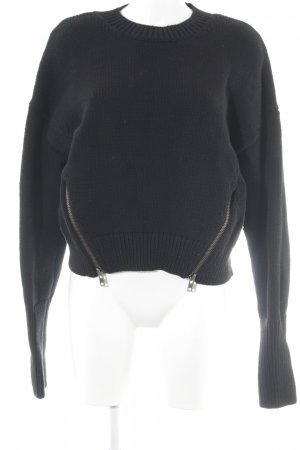 & other stories Strickpullover schwarz Webmuster Casual-Look