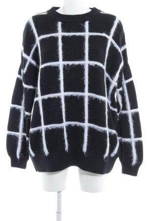& other stories Pull tricoté noir-blanc cassé motif à carreaux