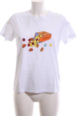& other stories T-Shirt weiß Motivdruck Casual-Look
