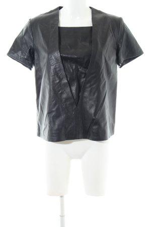 & other stories T-Shirt schwarz Glanz-Optik