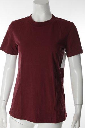 & other stories T-Shirt bordeauxrot schlichter Stil