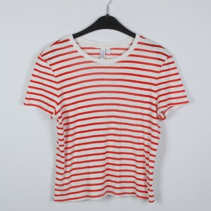 & other stories T-shirt bianco-rosso Tessuto misto