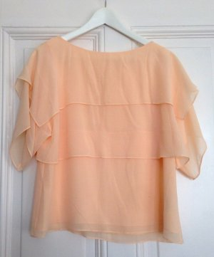 & other Stories Top S Bluse coral peach Chiffon nude