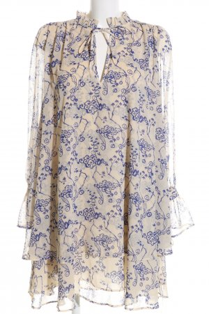 & other stories Tunikakleid hellgelb-dunkelblau florales Muster Elegant