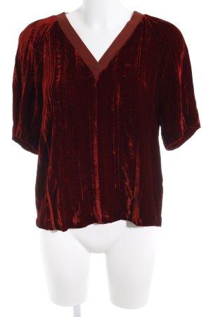 & other stories V-Ausschnitt-Shirt dunkelrot Casual-Look