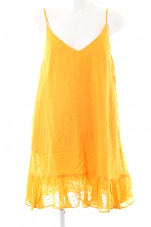 & other stories Volantkleid goldorange schlichter Stil