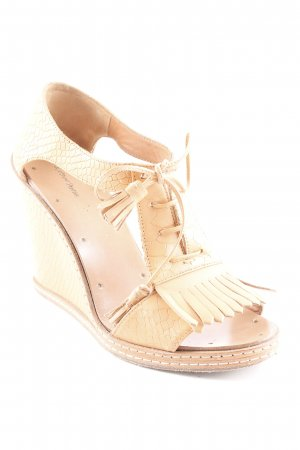 & other stories Wedges Sandaletten apricot Reptil-Optik