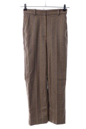 & other stories Pantalone di lana marrone-giallo pallido puntinato stile casual