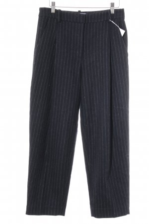 & other stories Woolen Trousers dark blue-light grey pinstripe Brit look