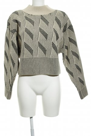 & other stories Wollpullover beige-schwarz schlichter Stil