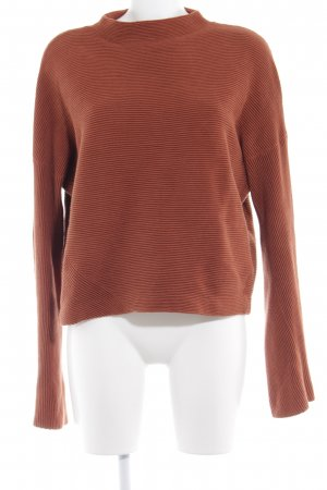 & other stories Wollpullover cognac Streifenmuster Casual-Look
