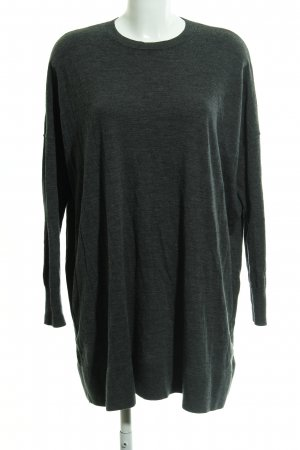 & other stories Wollpullover dunkelgrau meliert Casual-Look