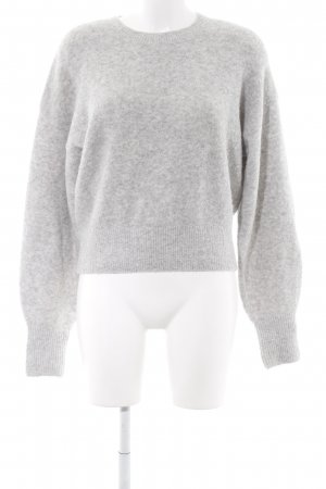 & other stories Wollpullover hellgrau Casual-Look