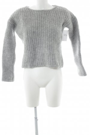 & other stories Wollpullover hellgrau Zopfmuster Casual-Look