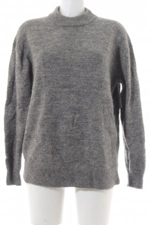 & other stories Wollpullover silberfarben-grau meliert Casual-Look