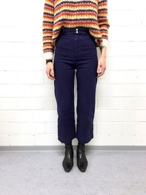& other stories workwear High Waist Denim Jeans Hose 70er Cosy Blogger Street Style Culotte