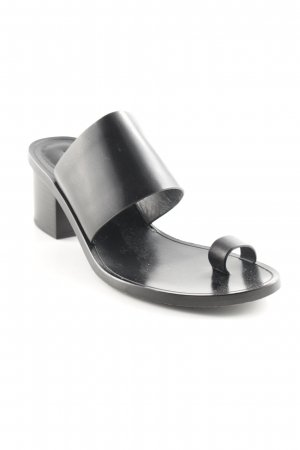 & other stories High-Heeled Toe-Post Sandals black casual look