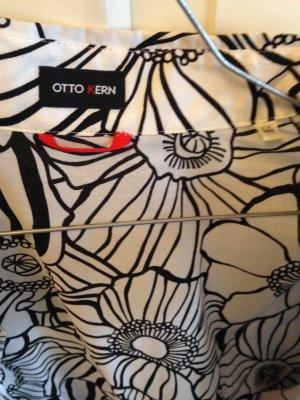 Otto Kern Bluse, leichte Designerbluse, schwarz-weiß, Gr. 44