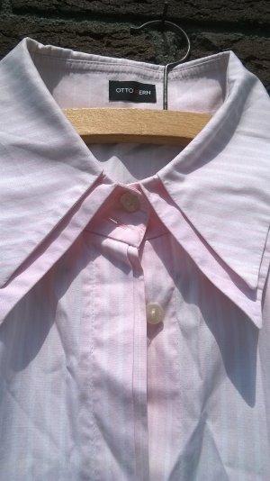 OTTO KERN Bluse rosa-weiß  Größe 46