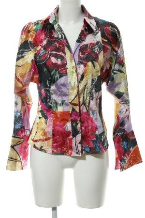 Otto Kern Blouse brillante motif de fleur style mouillé