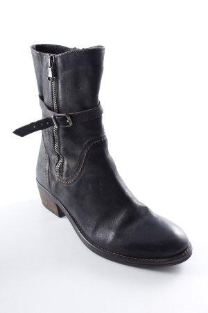 Otto Kern Buskins dark brown-anthracite street-fashion look