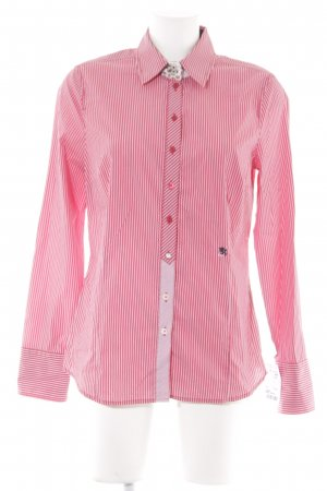 Otto Kern Hemd-Bluse ziegelrot-weiß Streifenmuster Business-Look