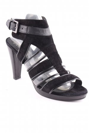 Otto Kern High Heel Sandaletten schwarz Materialmix-Look