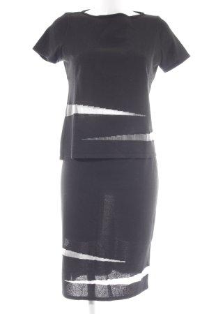 Otto Kern Kostüm schwarz-wollweiß Elegant