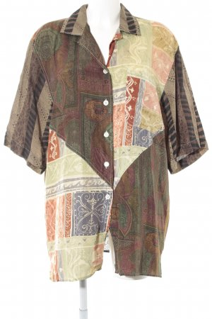 Otto Kern Kurzarm-Bluse Ethnomuster Casual-Look