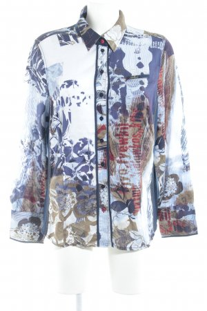 Otto Kern Langarm-Bluse abstraktes Muster Business-Look
