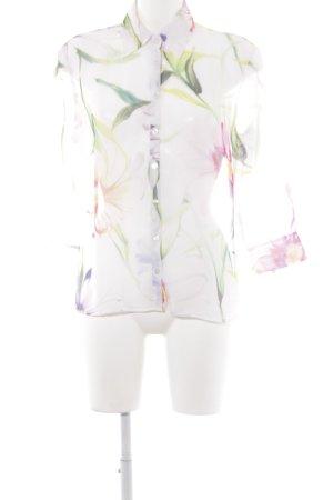 Otto Kern Langarm-Bluse Blumenmuster Transparenz-Optik