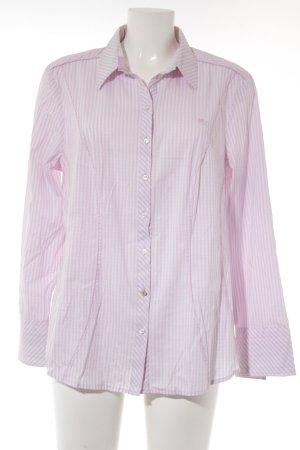 Otto Kern Langarmhemd rosa-weiß Streifenmuster Business-Look