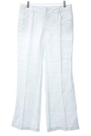 Otto Kern Pantalón de lino azul celeste look casual