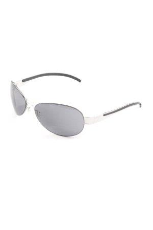 Otto Kern ovale Sonnenbrille silberfarben-schwarz Casual-Look