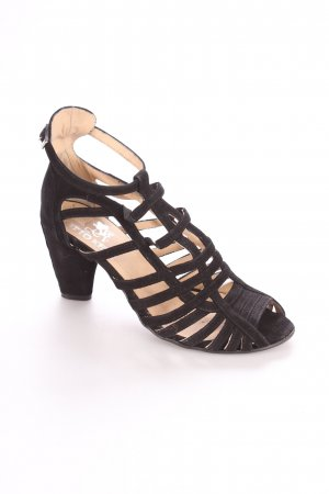 Otto Kern Riemchen-Sandaletten schwarz klassischer Stil
