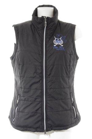 Otto Kern Chaleco acolchado negro-azul estilo deportivo