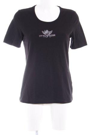 Otto Kern T-Shirt schwarz Casual-Look