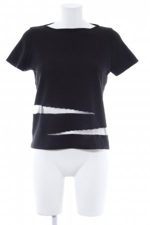 Otto Kern T-Shirt schwarz-wollweiß Elegant