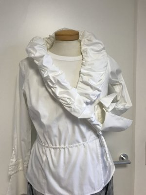 Otto Kern Ruche blouse wit Katoen