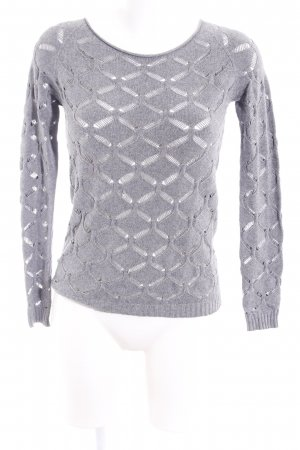 Otto Kern Wollpullover grau meliert Casual-Look