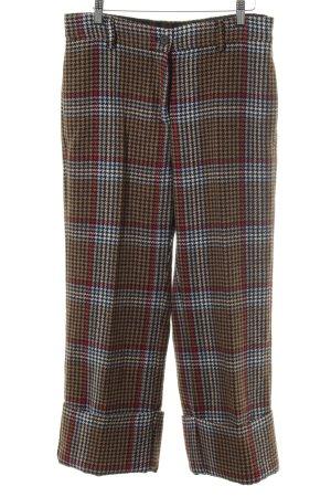 ottod'Ame Stoffen broek geruite print zakelijke stijl