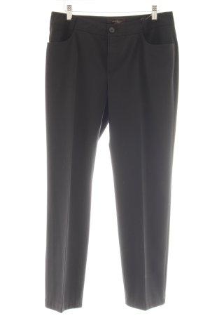 Oui Pantalone da abito nero stile professionale