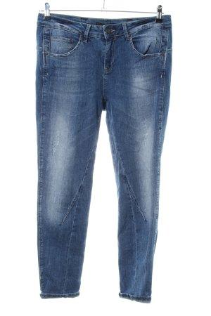 Oui Biker jeans blauw casual uitstraling