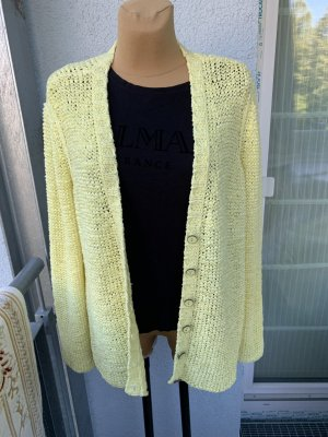 oui BLACK LABEL Gilet tricoté jaune-jaune clair
