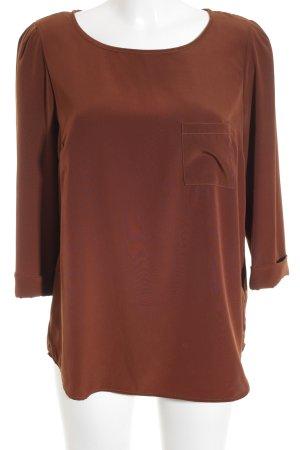 oui BLACK LABEL Langarm-Bluse cognac Business-Look