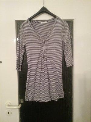 oui BLACK LABEL Shirt Tunic white-dark blue