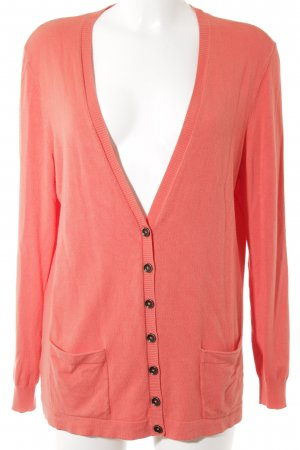 oui BLACK LABEL Strick Cardigan orange klassischer Stil