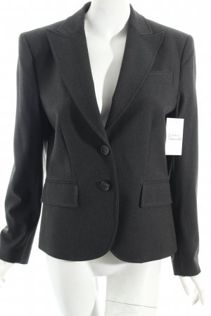 Oui Blazer anthrazit-schwarz Streifenmuster Business-Look