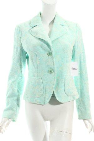 Oui Blazer blassgrün-wollweiß abstraktes Muster extravaganter Stil